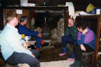 Victorian rangers in Tin Hut (Peter) - 96-0023.jpg