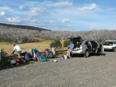 Car park at Round Mountain. - P1010966.JPG