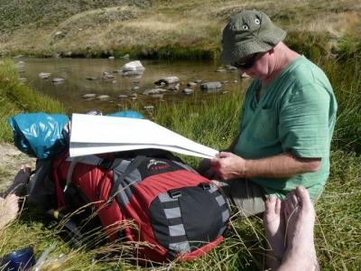 Bob checks the map. - P1020003.JPG