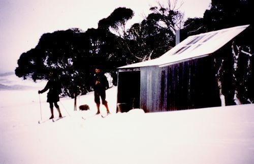 Life saving hut in blizzard 1972 - Brooks1972.jpg