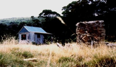 Constance ruins in front of Burungubugee Shelter 1993 - Constance_ruins1993.jpg