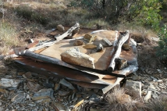 Remains of burnt down loo. - P1070561.JPG